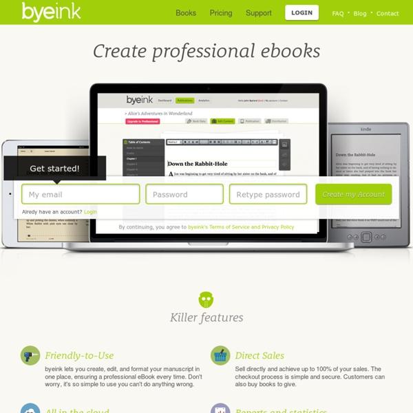 Byeink · Create professional ebooks