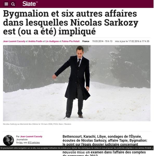 Sarkozy: la fiche d'identité de toutes les affaires en cours