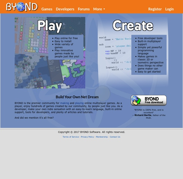 BYOND - Make & Play Online Multiplayer Games