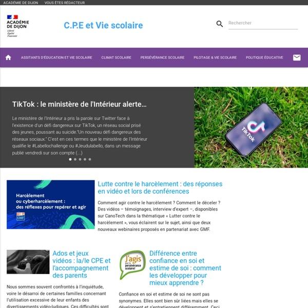 SITE + RSS Ac. Dijon : CPE - Vie scolaire
