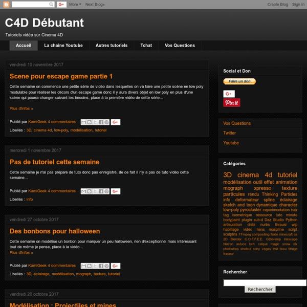 C4D Débutant