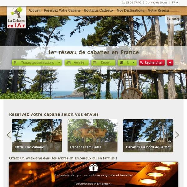 Cabane dans les arbres : 1er réseau de cabanes en France