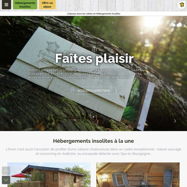 cabanes de france cabanes dans les arbres et h bergements insolites dormir dans un cabane. Black Bedroom Furniture Sets. Home Design Ideas