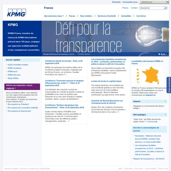 kpmg cabinet fran 231 ais d audit d expertise compta