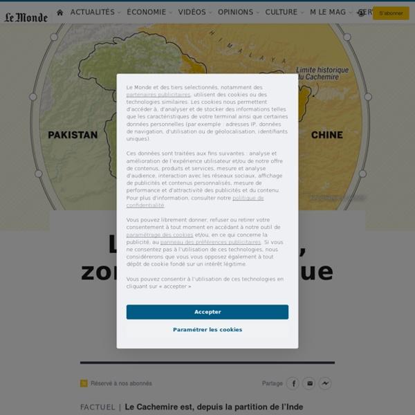 Le Cachemire, zone géopolitique sensible