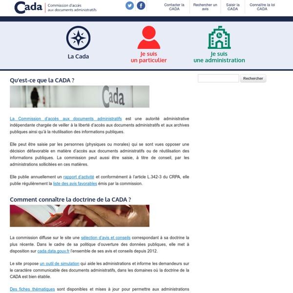 CADA - Commission d'accès aux documents administratifs