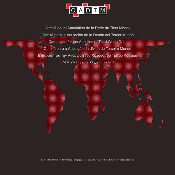 CADTM - Comité pour l'annulation de la dette du tiers monde