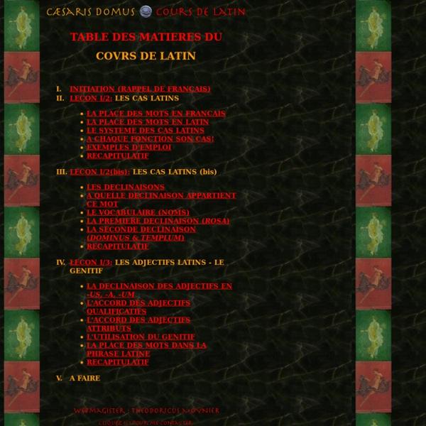 Caesaris domvs - Cours de latin (TdM)