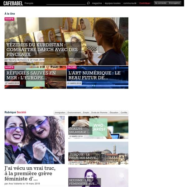 Le magazine européen : actualités, reportages, enquêtes et opinions