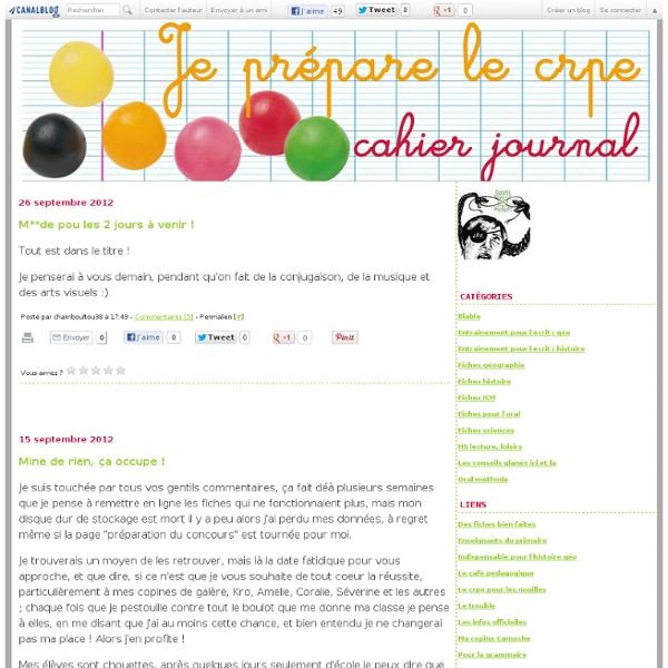 Cahier journal de préparation au CRPE 2012