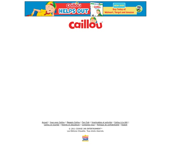 Caillou - Jeux immersifs