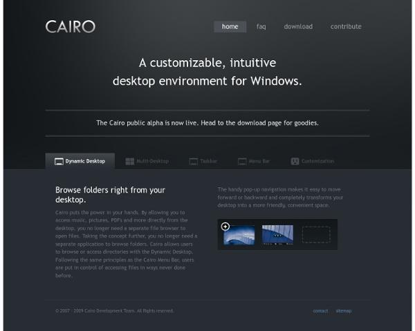 Cairo - Windows Shell Alternative - Home