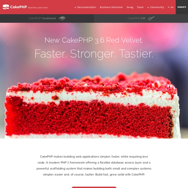 CakePHP v3.0 - the rapid development php framework.