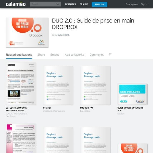 Dropbox- guide de prise en main