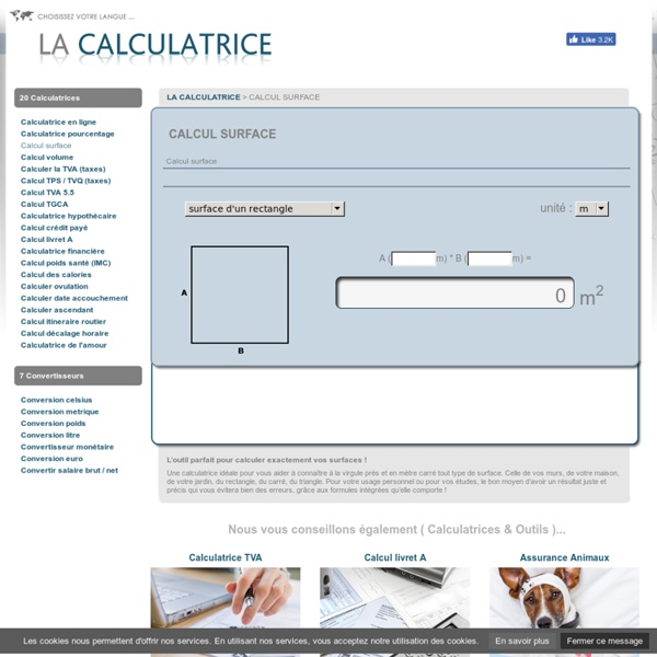 Calcul surface