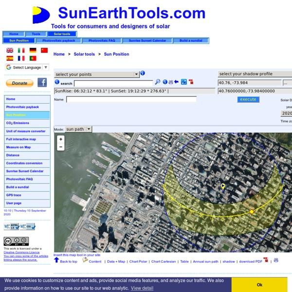 Simulateur en ligne pour diagramme solaire