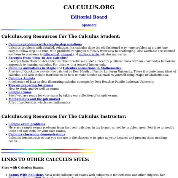 CALCULUS.ORG
