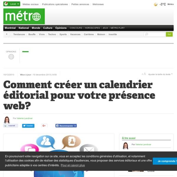 Comment créer un calendrier éditorial pour votre présence web?