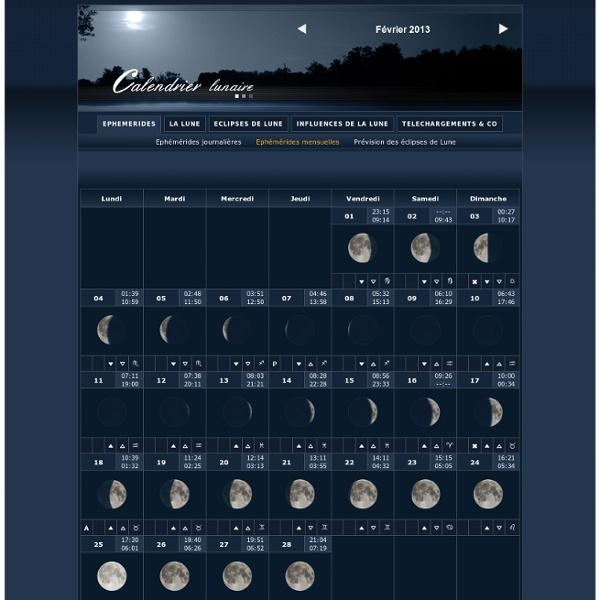 Calendrier lunaire - Septembre 2011