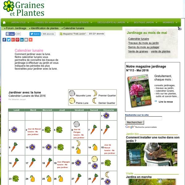 Calendrier lunaire pour jardiner avec la lune pearltrees - Graines et jardin calendrier lunaire ...