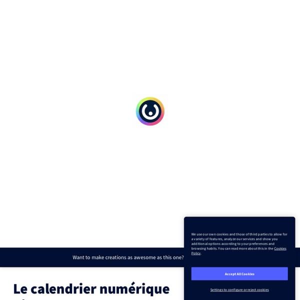 Le calendrier numérique hivernal 58