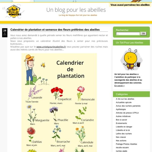 Calendrier Plantations.Un Blog Pour Les Abeilles Calendrier De Plantation Et