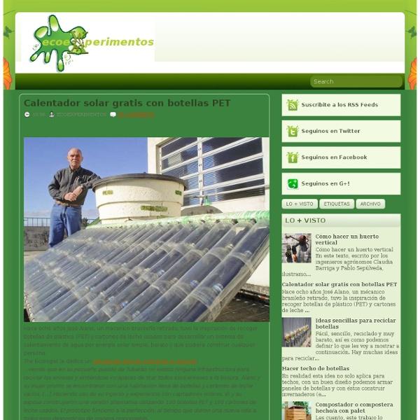 Ecoexperimentos: Calentador solar gratis con botellas PET