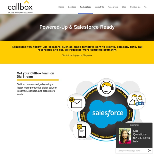 Powered-Up & Salesforce Ready - callboxinc.com.au - B2B Lead Generation and Appointment Setting