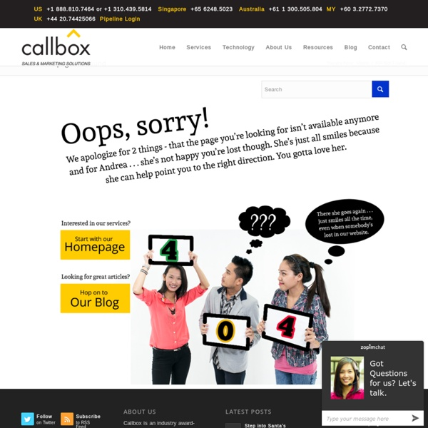 Page Not Found - callbox.com.sg - B2B Lead Generation and Appointment Setting