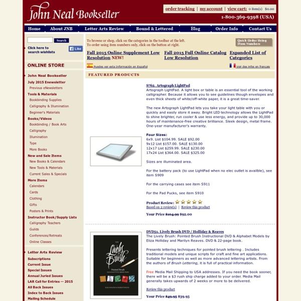John Neal Calligraphy Supplies