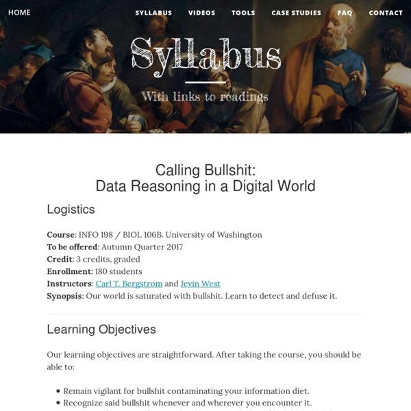 Calling Bullshit — Syllabus