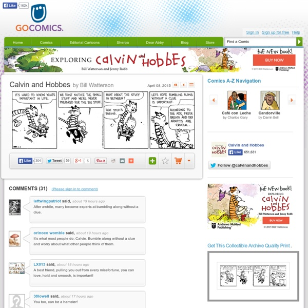 Calvin and Hobbes Comic Strip on GoComics