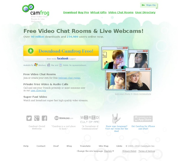 camfrog video chat rooms & live webcams! | pearltrees