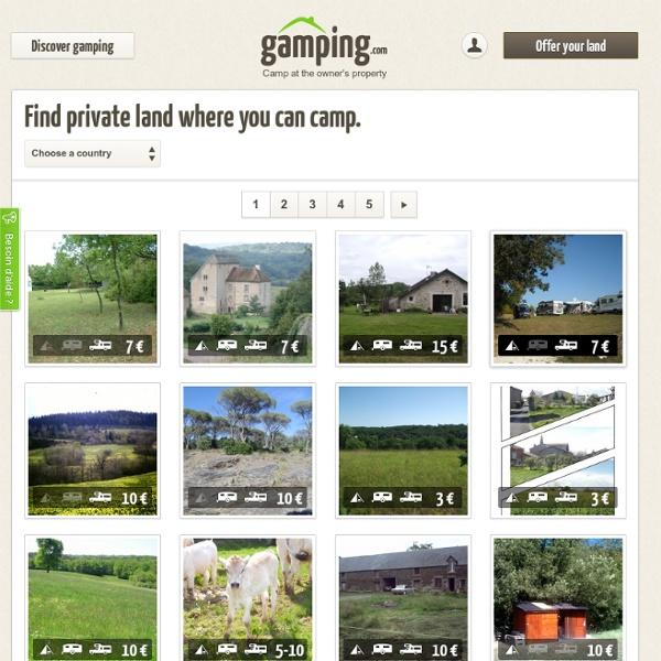 Private camping rentals · Gamping