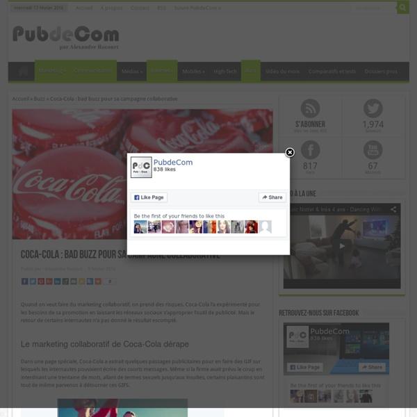 Coca-Cola : bad buzz pour sa campagne collaborative - PubdeCom
