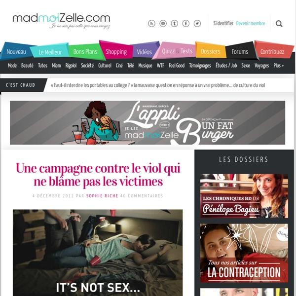 Une campagne contre le viol qui ne blâme pas les victimes