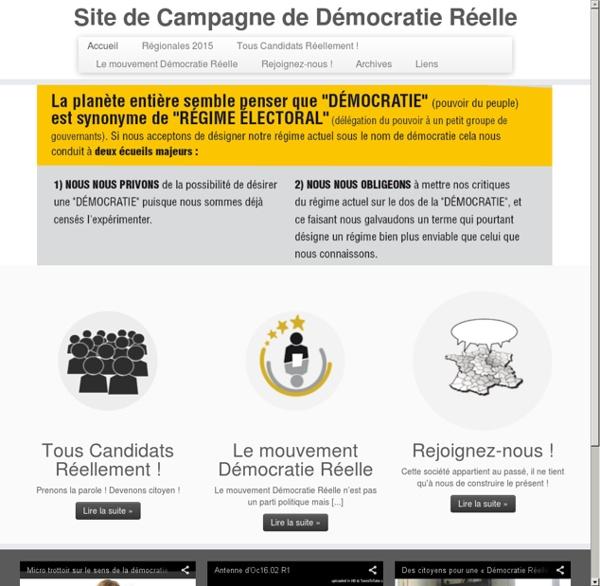Démocratie Réelle: Contre-Élection européenne 2014