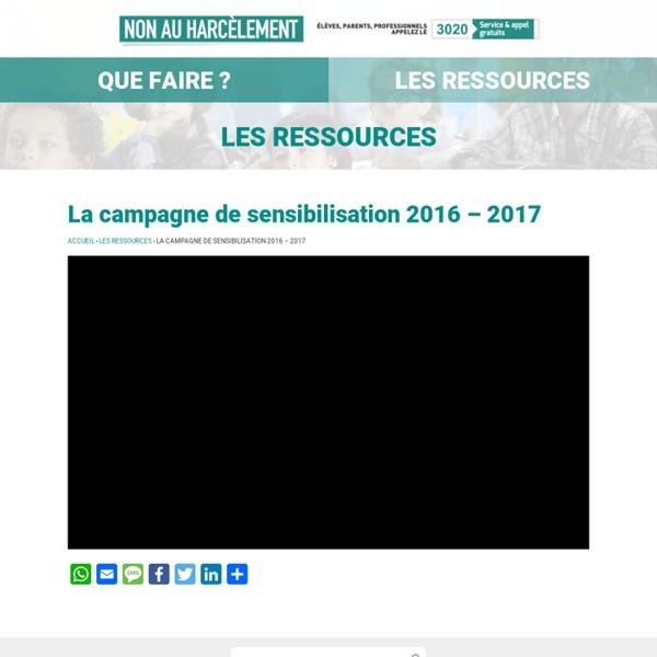 Film de la campagne de sensibilisation 2016 – 2017