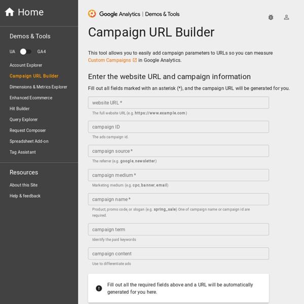 Campaign URL Builder — Google Analytics Demos & Tools