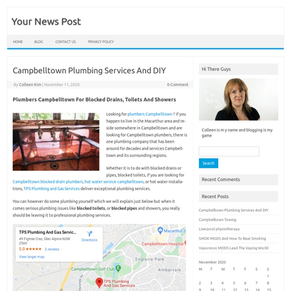 Campbelltown Plumbing Services And DIY – Your News Post