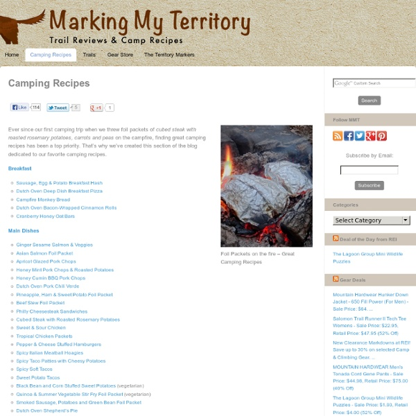 Foil Packets, Dutch Oven & Gourmet S'mores Recipes