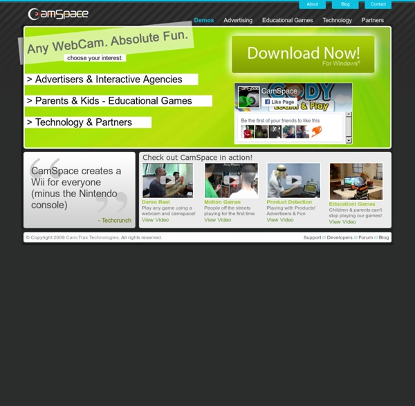 CamSpace.com: Kiss Your Keyboard, Mouse & Joystick Goodbye! Play