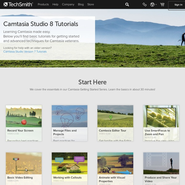 Camtasia Studio 8 Tutorials