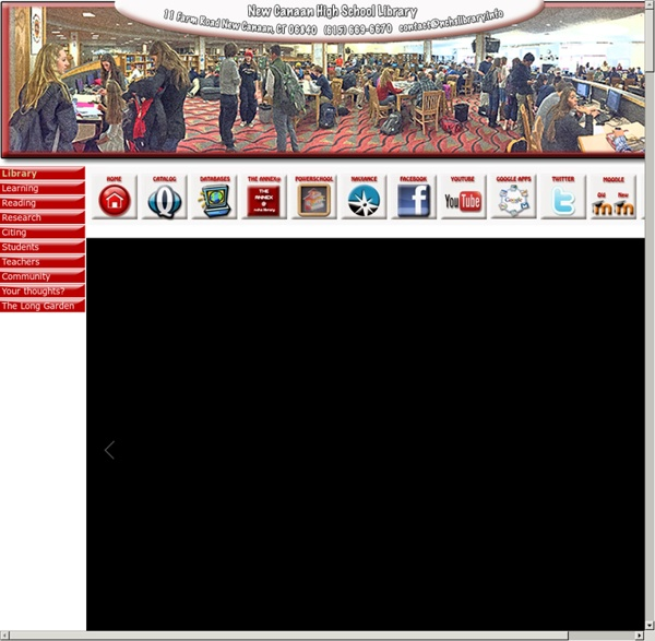 New Canaan High School library website, New Canaan, CT USA