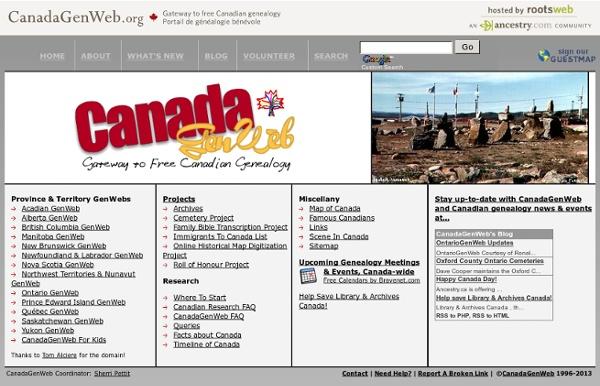 Canada GenWeb Project