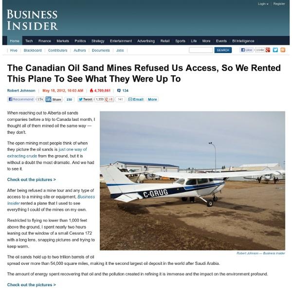Canadian Oil Sands Flyover