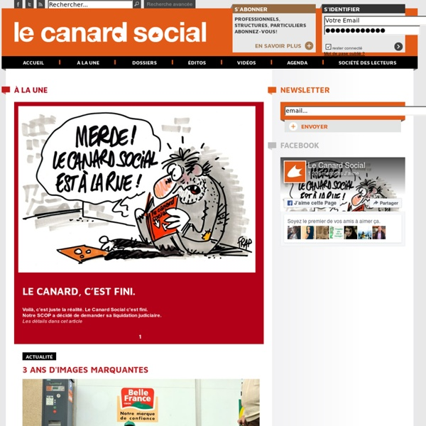 Le Canard Social/ L'actualit? du secteur social en Pays de la Loire