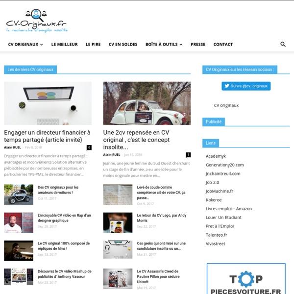 Le blog des candidatures originales, des CV Papiers, Web & Vidéo qui font la différence. Analyse de CV, idées, inspiration & interviews pour faire rendre votre CV original.