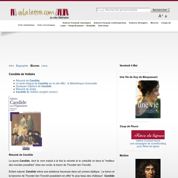 Candide de Voltaire - Résumé