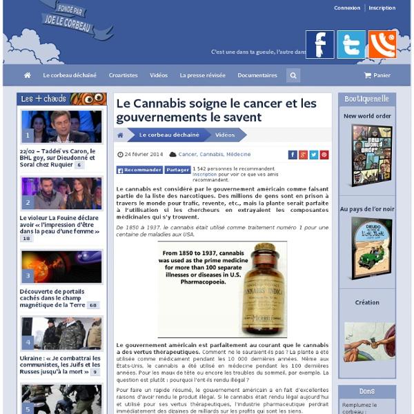 Le Cannabis soigne le cancer et les gouvernements le savent